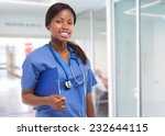 black nurse portrait | Shutterstock . vector #232644115