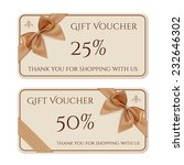 gift voucher template with...   Shutterstock .eps vector #232646302