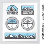 mountain badges and labels.... | Shutterstock .eps vector #232646836