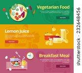 set of flat design concepts for ... | Shutterstock .eps vector #232648456