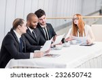 business meeting of businessmen.... | Shutterstock . vector #232650742