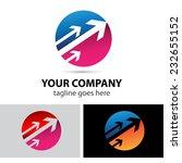 round arrow vector logo  | Shutterstock .eps vector #232655152