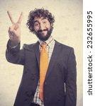 young crazy man   Shutterstock . vector #232655995