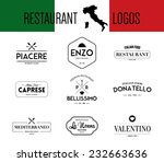 set of retro vintage italian... | Shutterstock .eps vector #232663636
