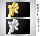 vector luxury gift card set ... | Shutterstock .eps vector #232666072