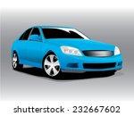 car blue  vector illustration | Shutterstock .eps vector #232667602
