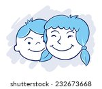 brother and sister | Shutterstock .eps vector #232673668