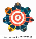achieving goal concept.... | Shutterstock .eps vector #232676512