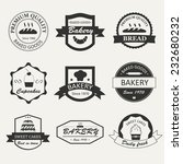 retro bakery logos  badges and... | Shutterstock .eps vector #232680232
