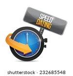 speed dating watch illustration ... | Shutterstock .eps vector #232685548