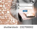 login and password | Shutterstock . vector #232700002