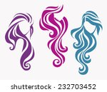 set of beautiful girls with... | Shutterstock .eps vector #232703452