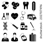 medical services icons set | Shutterstock .eps vector #232707496