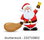 santa claus with a bag and ... | Shutterstock .eps vector #232710802