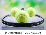 a set of tennis. racket and... | Shutterstock . vector #232711105
