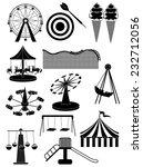 carnival amusement park icons... | Shutterstock .eps vector #232712056