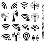 wireless sign icons set | Shutterstock .eps vector #232716292