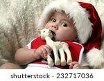 Santa Baby With Deer