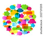 colorful bubbles speech | Shutterstock .eps vector #232719205