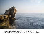 Rocky Cliff Landscape With...