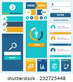 vector set of flat web design...