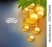 christmas balls template... | Shutterstock .eps vector #232734442
