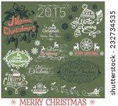 set of merry christmas...   Shutterstock .eps vector #232734535