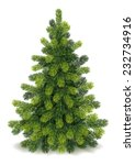 detailed christmas tree | Shutterstock .eps vector #232734916