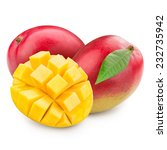 mango fruit isolated on white... | Shutterstock . vector #232735942