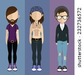 set of people icons in flat... | Shutterstock .eps vector #232736572