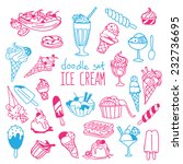 set of various doodles  hand... | Shutterstock .eps vector #232736695