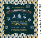 christmas party invitation card. | Shutterstock .eps vector #232741282