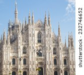milan  facade of the cathedral | Shutterstock . vector #232746652