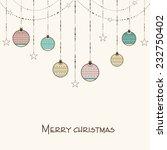 merry christmas celebration... | Shutterstock .eps vector #232750402