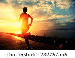 runner athlete running at... | Shutterstock . vector #232767556