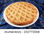 lemon apple pie  tart  crostata | Shutterstock . vector #232772068