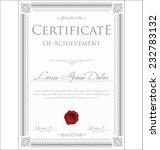 certificate template | Shutterstock .eps vector #232783132