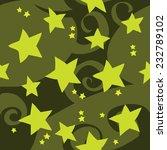 cartoon green stars pattern....
