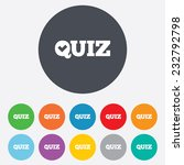 quiz check sign icon. questions ...   Shutterstock .eps vector #232792798