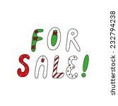 advertising slogan for sale... | Shutterstock .eps vector #232794238