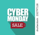 cyber monday flat design with... | Shutterstock .eps vector #232797118