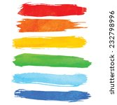 colorful watercolor brush... | Shutterstock .eps vector #232798996