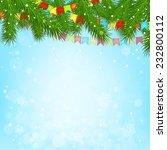 christmas tree background | Shutterstock .eps vector #232800112