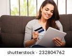 cute young woman shopping... | Shutterstock . vector #232804762