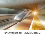 High Speed Train With Motion...