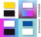 stack of blank business cards... | Shutterstock .eps vector #232806868