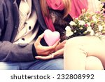 a midsection of a romantic... | Shutterstock . vector #232808992