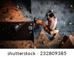 muscular man practicing rock... | Shutterstock . vector #232809385