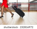 women carries their luggage at... | Shutterstock . vector #232816972