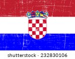 grungy flag of croatia | Shutterstock .eps vector #232830106